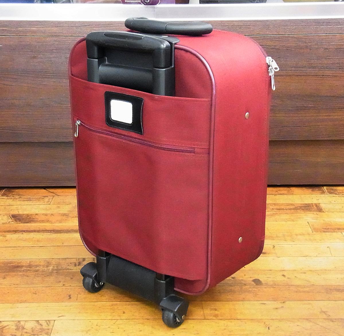 JETAGE/ジェットエイジ ソフト キャリーバッグ ワインレッド 機内持ち込みサイズ 鍵欠品 キャリーケース/スーツケース/トラベルバッグ_画像2