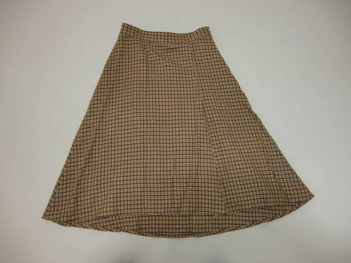 〇 ワールド INDIVI 台形スカート_画像1
