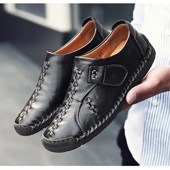 新品 メンズ スリッポン ローファー ドライビングシューズ 紳士靴 カジュアル ローカット 黒_画像1