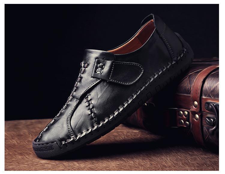 新品 メンズ スリッポン ローファー ドライビングシューズ 紳士靴 カジュアル ローカット 黒_画像2