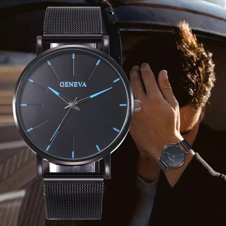 メンズ クォーツ腕時計 送料無料 アナログ時計 カジュアル腕時計_画像2
