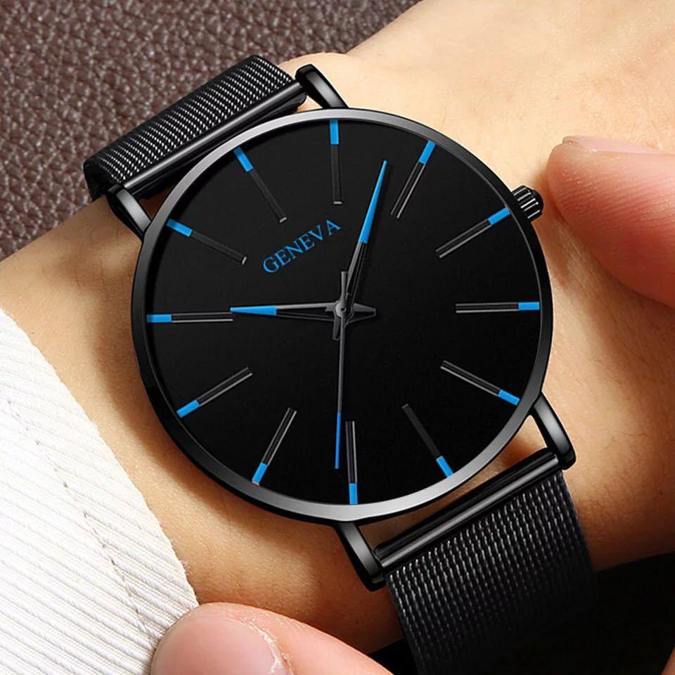 メンズ クォーツ腕時計 送料無料 アナログ時計 カジュアル腕時計_画像1