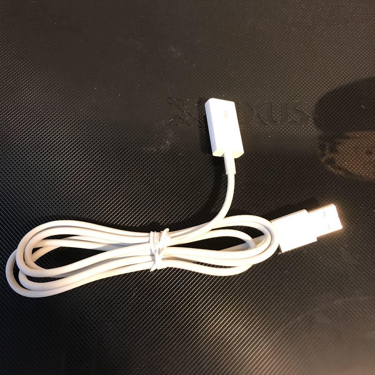 USB延長ケーブル 白 約1メートル 中古
