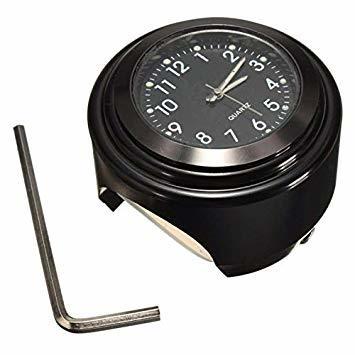 黒(HH) VISPREA バイク 時計 防水 夜光機能 22mm~25mmハンドル適用 アナログ時計 夜光 ダイヤル時計 オー_画像1
