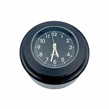 黒(HH) VISPREA バイク 時計 防水 夜光機能 22mm~25mmハンドル適用 アナログ時計 夜光 ダイヤル時計 オー_画像2