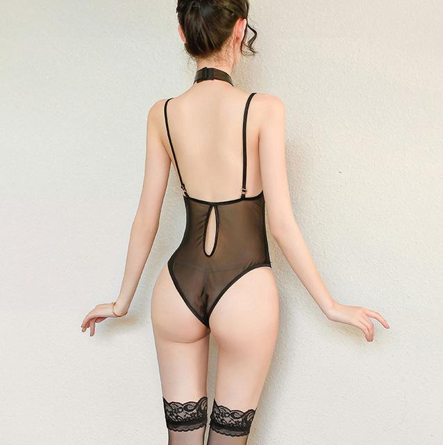 ◆超セクシー エロ誘惑 ハイレグレオタード フェイクレザー+透け透けメッシュ レースクイーン コスプレ衣装 ナイトウエア_画像2