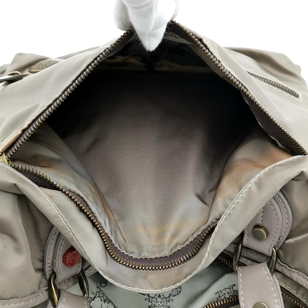 送料無料 オロビアンコ OROBIANCO ハンドバッグ トートバッグ 鞄 ナイロン 灰 グレー系 メンズ_画像8