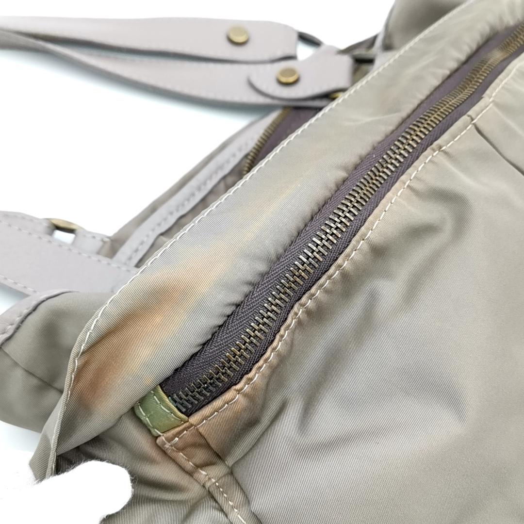 送料無料 オロビアンコ OROBIANCO ハンドバッグ トートバッグ 鞄 ナイロン 灰 グレー系 メンズ_画像7