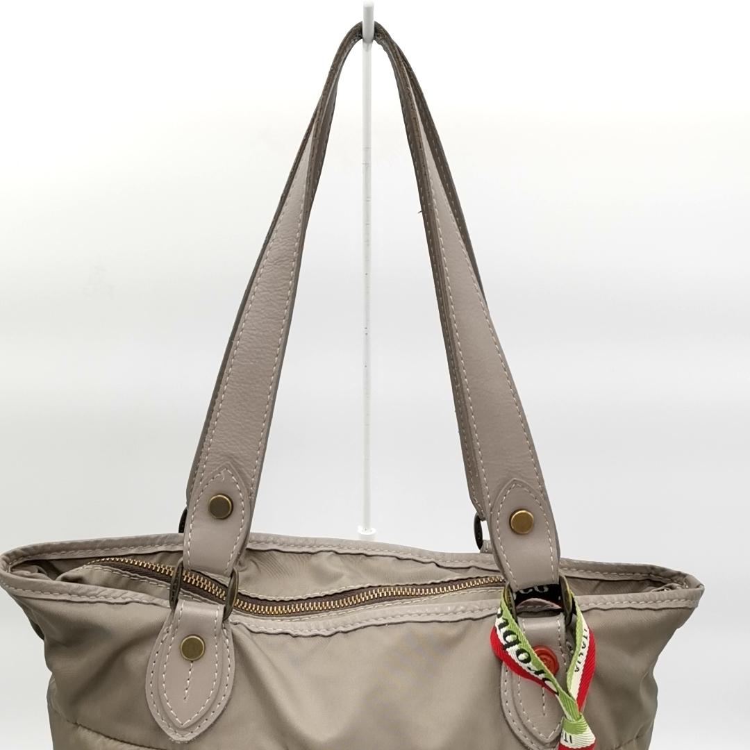 送料無料 オロビアンコ OROBIANCO ハンドバッグ トートバッグ 鞄 ナイロン 灰 グレー系 メンズ_画像6
