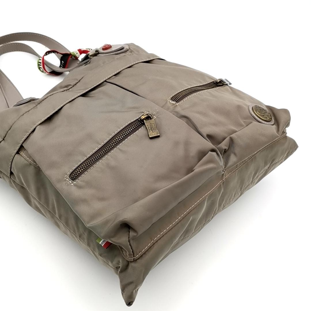 送料無料 オロビアンコ OROBIANCO ハンドバッグ トートバッグ 鞄 ナイロン 灰 グレー系 メンズ_画像5