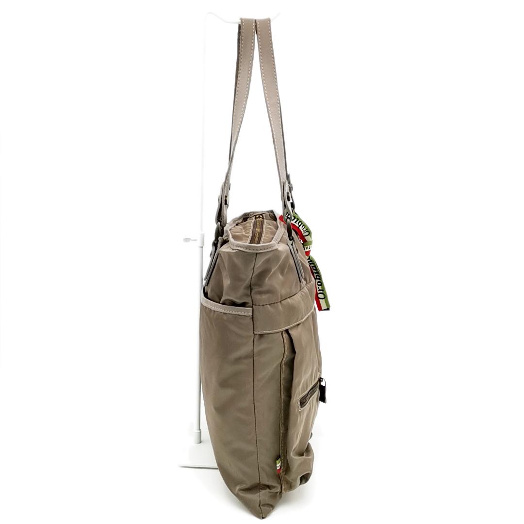 送料無料 オロビアンコ OROBIANCO ハンドバッグ トートバッグ 鞄 ナイロン 灰 グレー系 メンズ_画像3