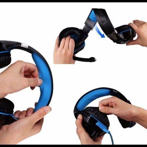 ★オススメ! ゲーミングヘッドセット ワイヤレスヘッドホン 高音質 遮音性 臨場感 LEDライト ゲーム PC/PS4/XBOX ブルー_画像6