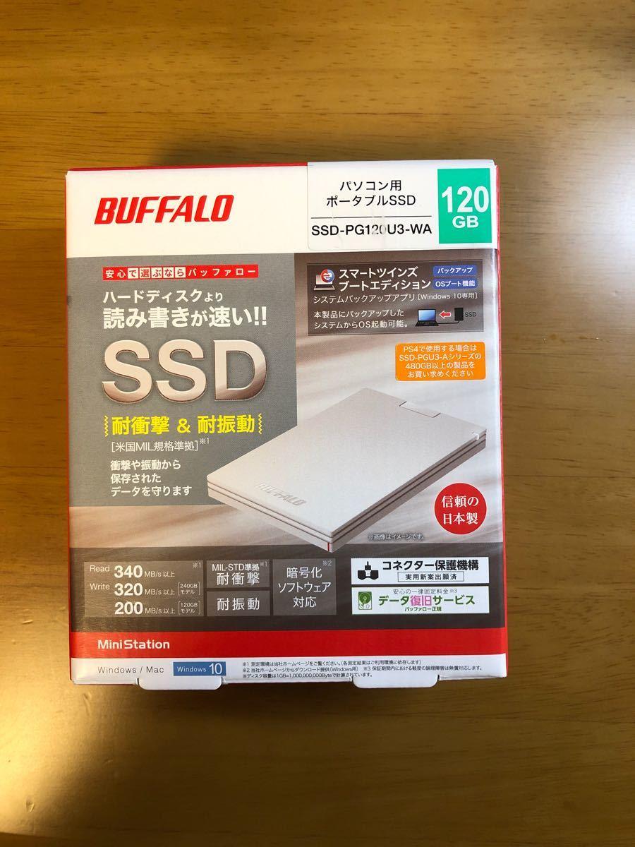 パソコン用 ポータブルSSD SSD-PG120U3-WA 120GB