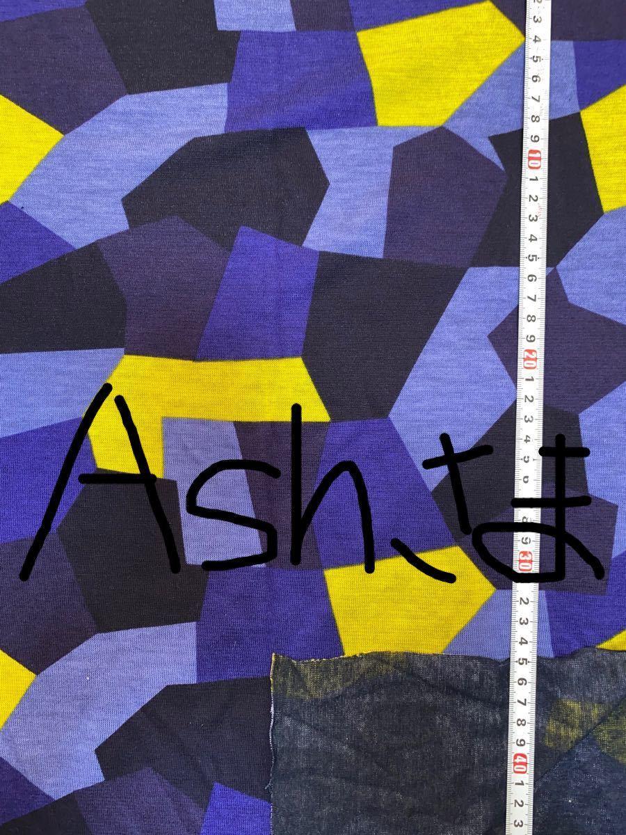 Ash様専用 大特価! 生地 ハギレ ハンドメイド テンセルポリエステル リバーニット プリント 幾何柄 パッチワーク 2点セット