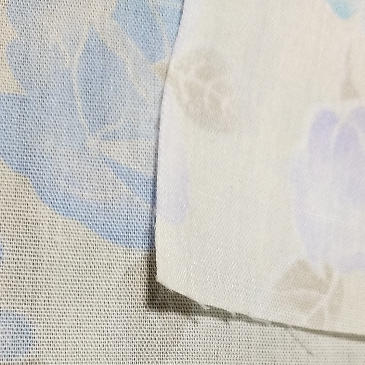 ハギレ 生地 花柄 ブルー