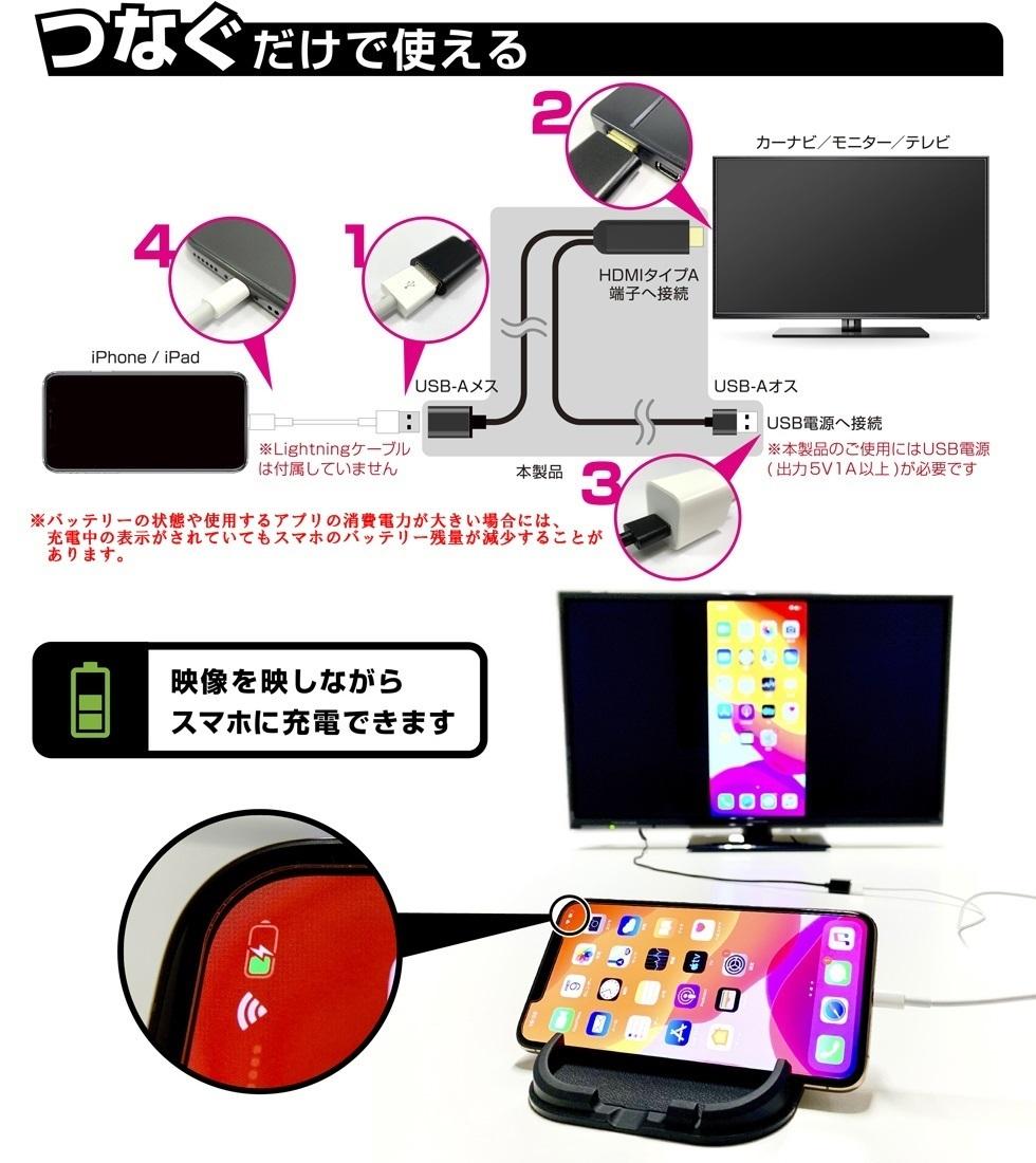 Kashimura(カシムラ) HDMI変換ケーブル iPhone専用 KD-207_画像3