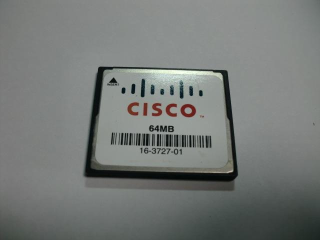 CISCO コンパクトフラッシュ 64MB メガバイト Compact Flash フォーマット済み 送料63円(ミニレター) CFカード_画像1