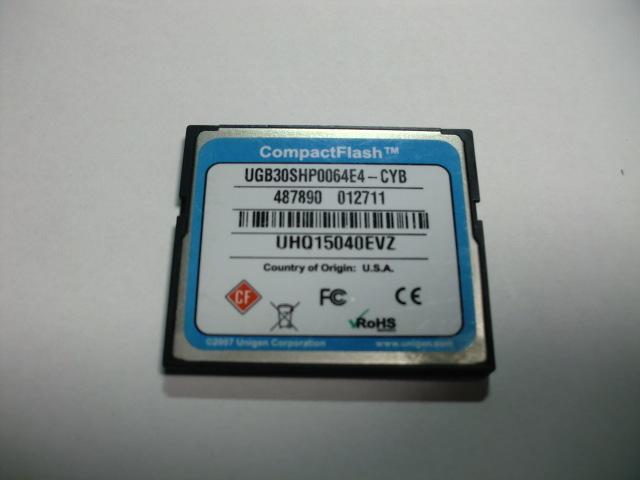 CISCO コンパクトフラッシュ 64MB メガバイト Compact Flash フォーマット済み 送料63円(ミニレター) CFカード_画像2