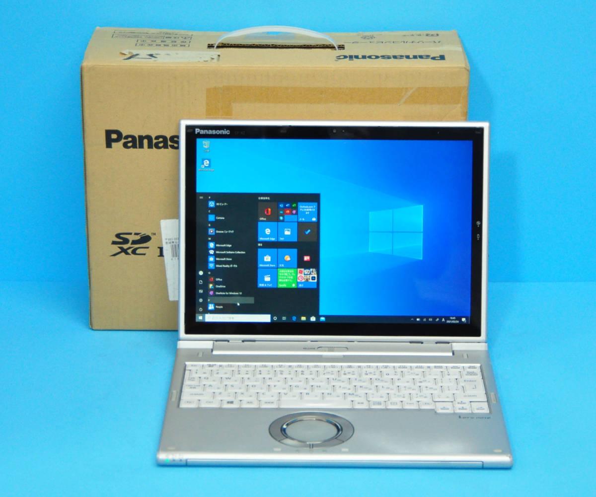 ★ 上位モデル 使用時間1650H ★ タッチパネル Panasonic CF-XZ6 Core i5 7300U/ メモリ8GB/ SSD 256GB/ 顔認証カメラ/ Office2019/ Win10_画像1