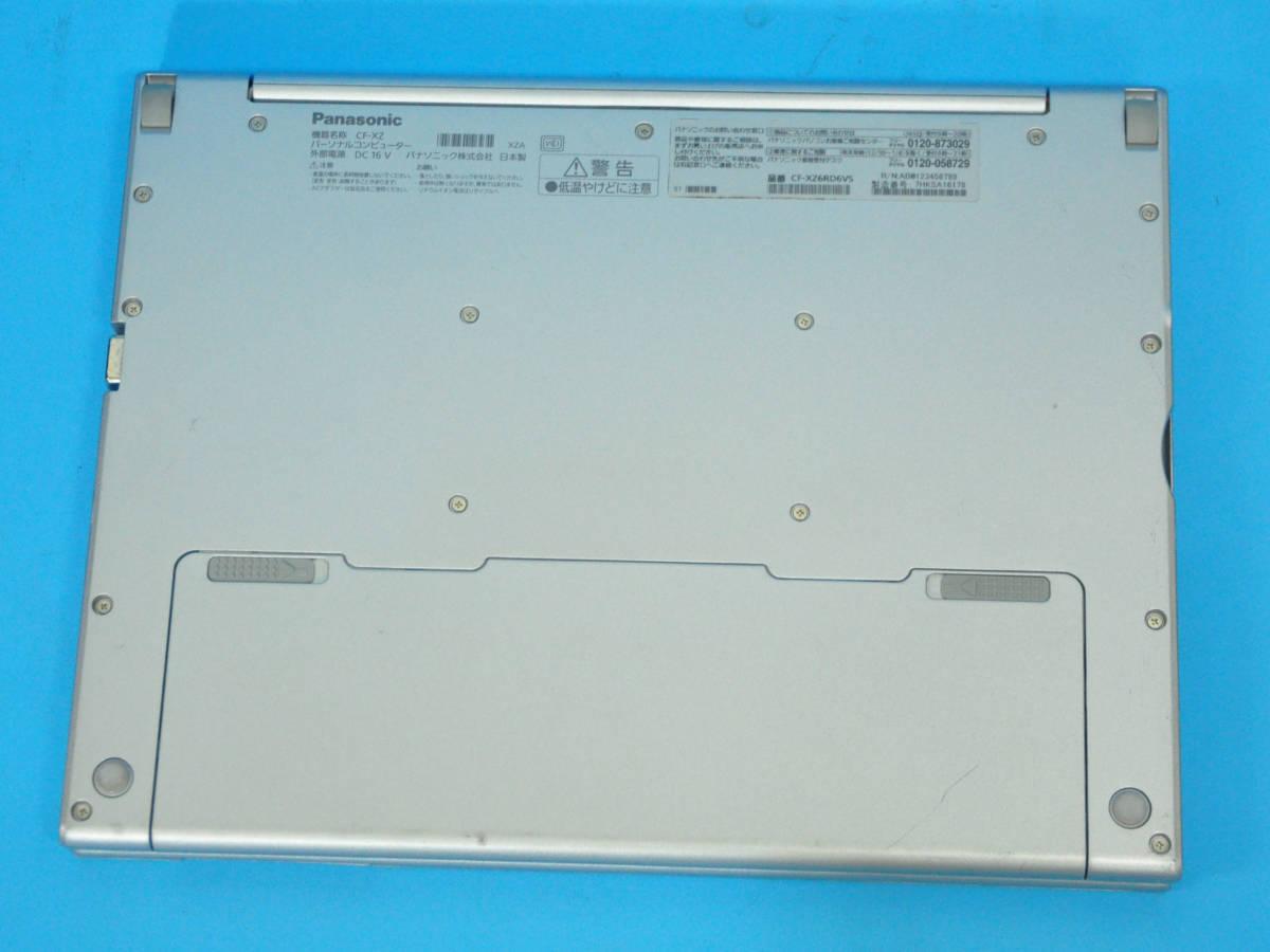★ 上位モデル 使用時間1650H ★ タッチパネル Panasonic CF-XZ6 Core i5 7300U/ メモリ8GB/ SSD 256GB/ 顔認証カメラ/ Office2019/ Win10_画像5