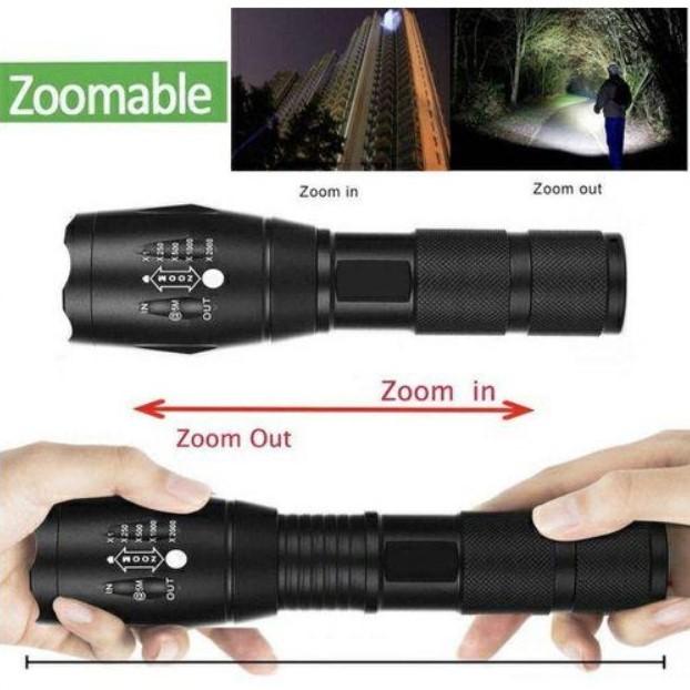 USB充電式 大容量 LED懐中電灯 高輝度ライト/USB充電式 キャンプ 夜釣り 夜間巡回 明るい 防水 LEDランプ
