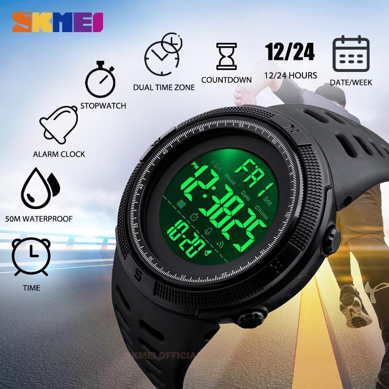 ★★メンズ腕時計 ファッション スポーツ腕時計 多機能防水デジタル腕時計 214_画像3