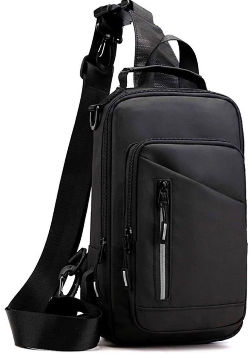 ボディバッグ メンズ 斜めがけ ショルダーバッグ 大容量 iPad収納 ワンショルダーバッグ USBポート付き iPad収納