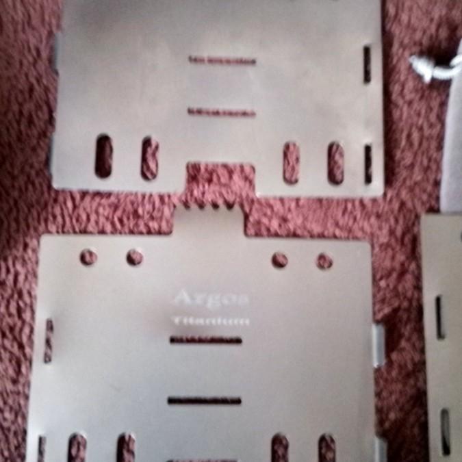 使用1回 Argosチタン板製五徳 アルコールストーブ