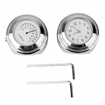 RANZEK 温度計 時計 バイクハンドル用 2個 防水 軽4FK8376_画像2