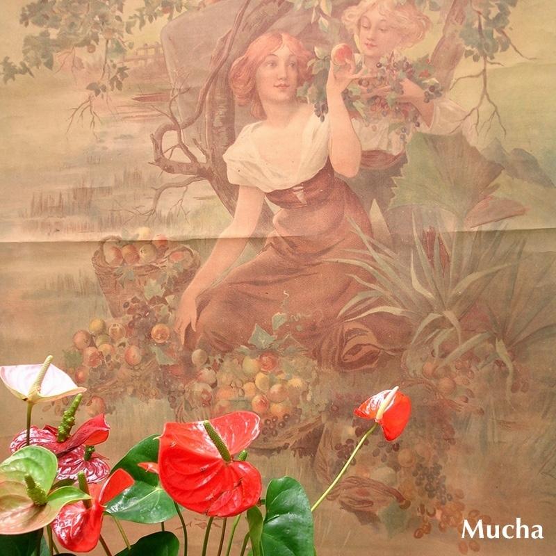 慶應◆本物保証 尾張鳴海宿の大豪商「下郷家」の洋館旧蔵品【アルフォンス・ミュシャ(Alp