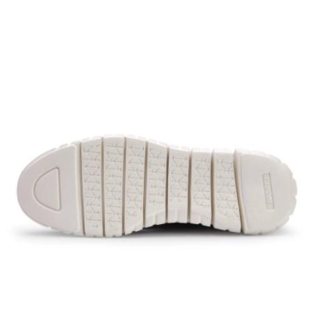 ☆新品 軽量ソフト男性スニーカーシューズ通気性の男性の靴フラッツ カジュアルニットメッシュメンズ靴固体浅いレースアップ_画像9