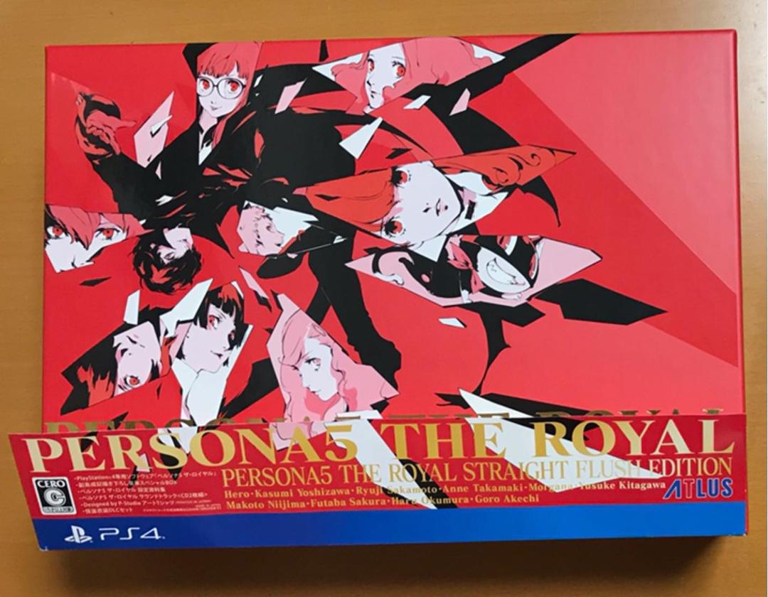 特典3点set 帯付 PS4 ペルソナ5 ザ ロイヤル ストレートフラッシュ エディション サントラ CD シャツ 設定資料集 THE ROYAL P5R Persona 5_画像2