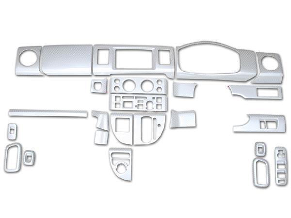 エブリイバン エブリイワゴン DA64V DA64W インテリアパネル 24P 綾織ホワイトカーボン調 H17.8~H27.2_画像2