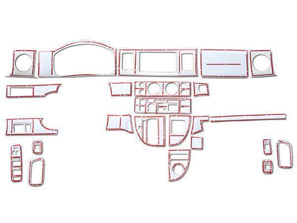 エブリイバン エブリイワゴン DA64V DA64W インテリアパネル 24P 綾織ホワイトカーボン調 H17.8~H27.2_画像4