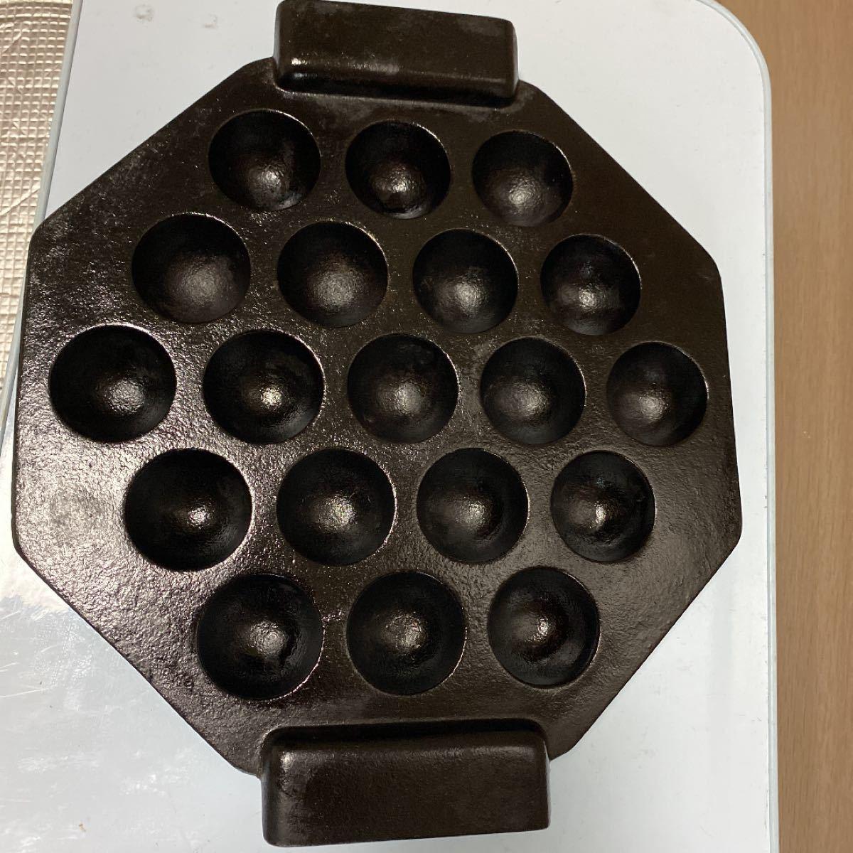 たこ焼き器 cookace 鋳鉄 20 南部鉄器