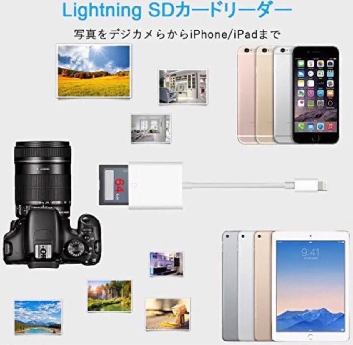 データ転送 SD カードリーダーー  iPhone iPad