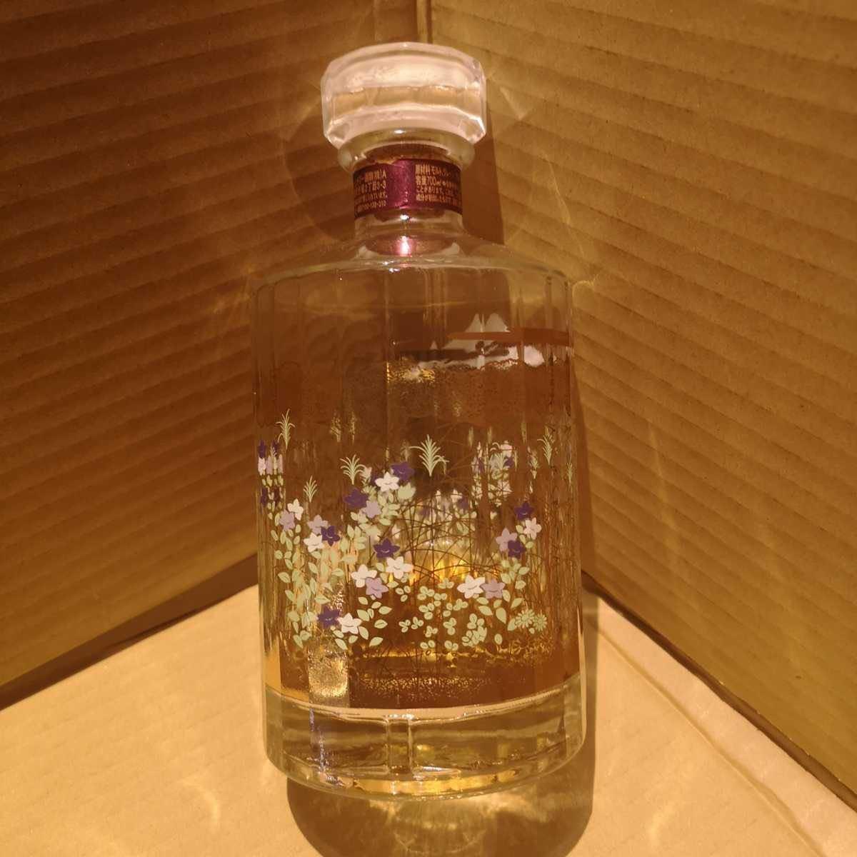 【空瓶のみ】響17年空瓶 武蔵野富士意匠ボトル、響ウイスキーサントリーウイスキー_画像2