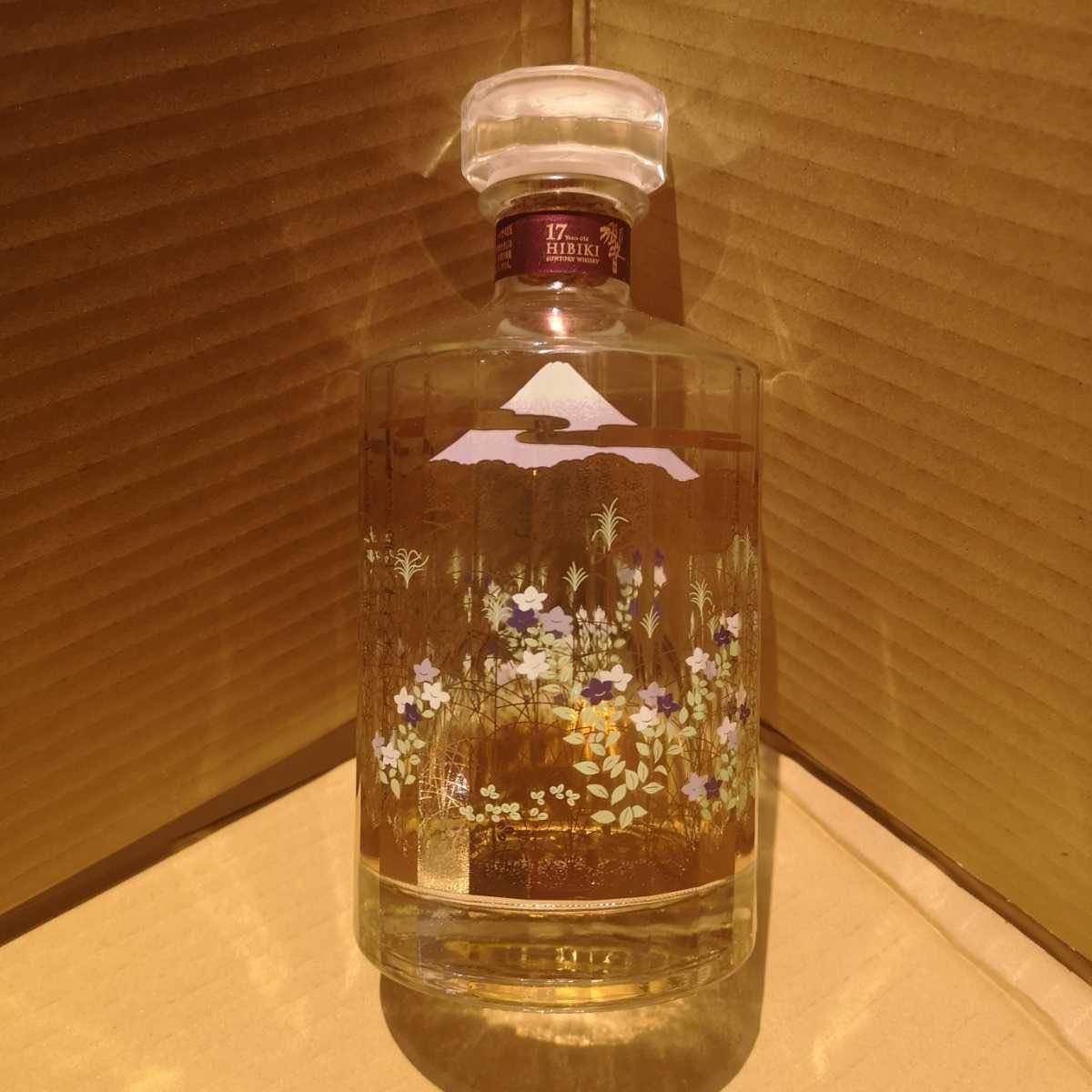 【空瓶のみ】響17年空瓶 武蔵野富士意匠ボトル、響ウイスキーサントリーウイスキー_画像1
