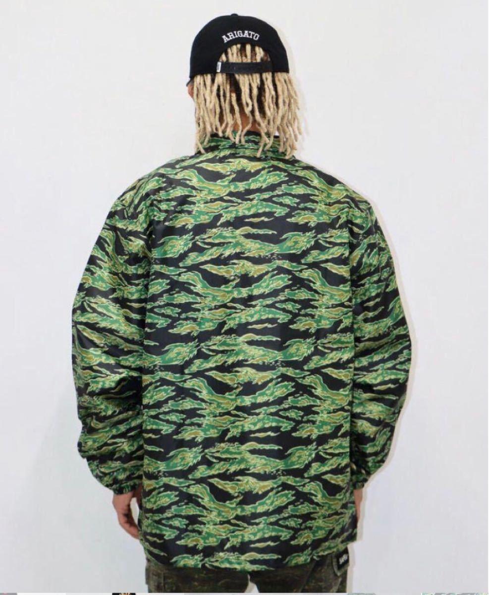 SAPEur coach jacket ナイロンコーチジャケット タイガーカモ 迷彩 XL