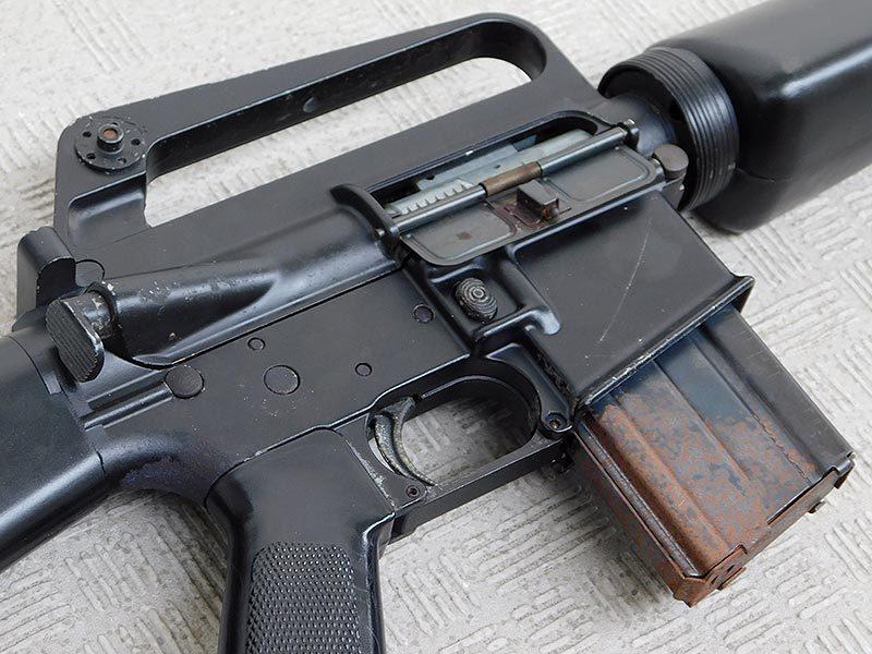 マルシン・M16A1・金属製モデルガン・ジャンク・処分品/米軍,ベトナム戦争,ナム戦,飾り,インテリア,オブジェ,部品取り,パーツ取り_画像3
