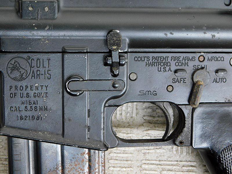 マルシン・M16A1・金属製モデルガン・ジャンク・処分品/米軍,ベトナム戦争,ナム戦,飾り,インテリア,オブジェ,部品取り,パーツ取り_画像4