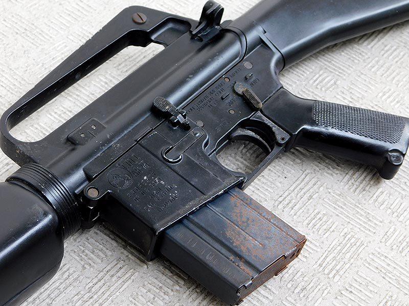 マルシン・M16A1・金属製モデルガン・ジャンク・処分品/米軍,ベトナム戦争,ナム戦,飾り,インテリア,オブジェ,部品取り,パーツ取り_画像2