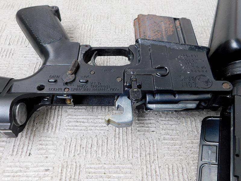 マルシン・M16A1・金属製モデルガン・ジャンク・処分品/米軍,ベトナム戦争,ナム戦,飾り,インテリア,オブジェ,部品取り,パーツ取り_画像6