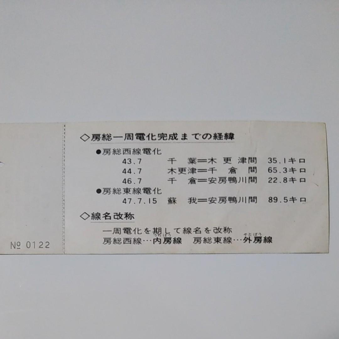 国鉄切符 房総一周電化完成記念乗車券