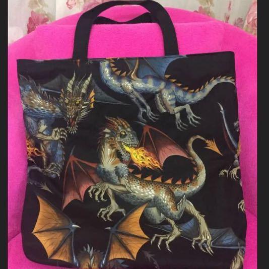 トートバッグ ドラゴン柄バッグ 竜柄バッグ 龍柄バッグ お出かけバッグ 外出用品