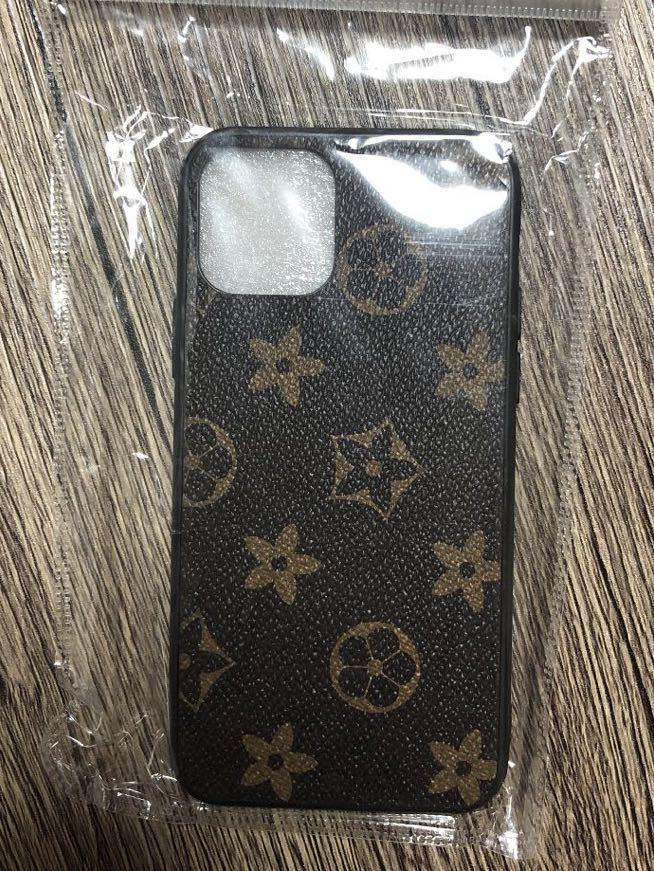 スマホケース iPhone11proケース 高級感 レザー調 茶色①_画像2