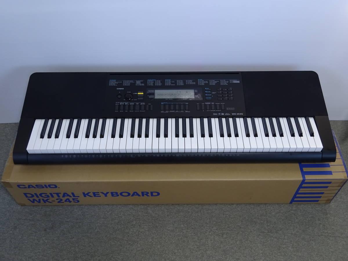 中古 CASIO デジタルキーボード WK-245 76鍵盤 2016年製 本体のみ 電子ピアノ カシオ_画像1