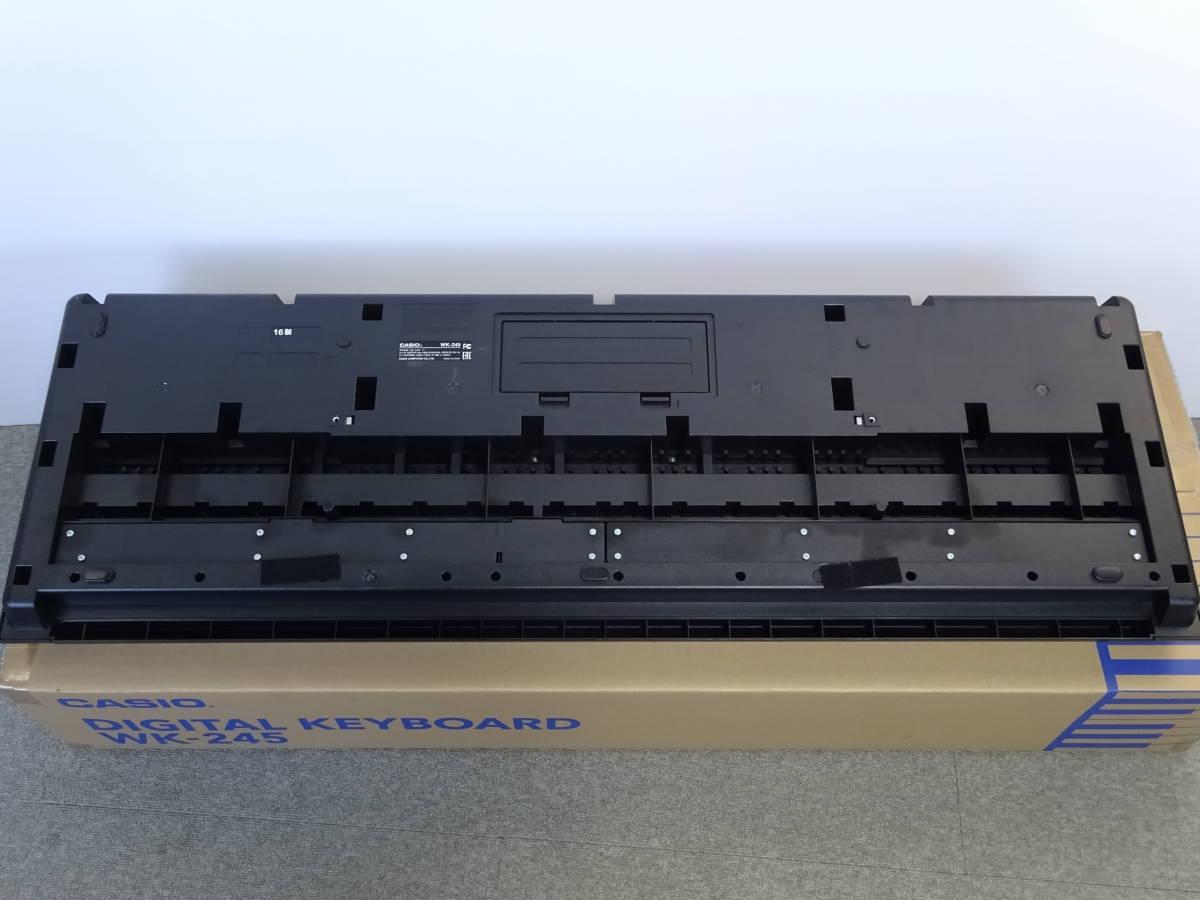 中古 CASIO デジタルキーボード WK-245 76鍵盤 2016年製 本体のみ 電子ピアノ カシオ_画像7