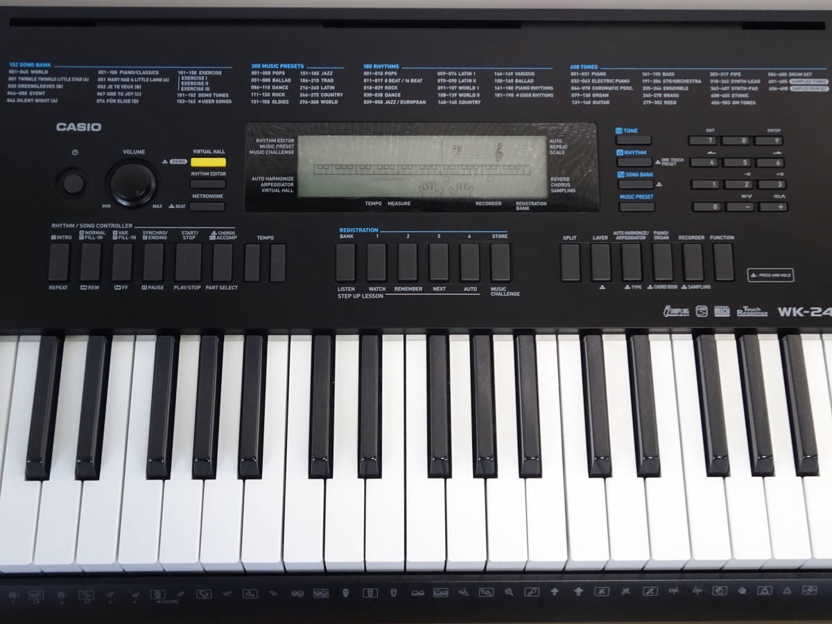 中古 CASIO デジタルキーボード WK-245 76鍵盤 2016年製 本体のみ 電子ピアノ カシオ_画像3