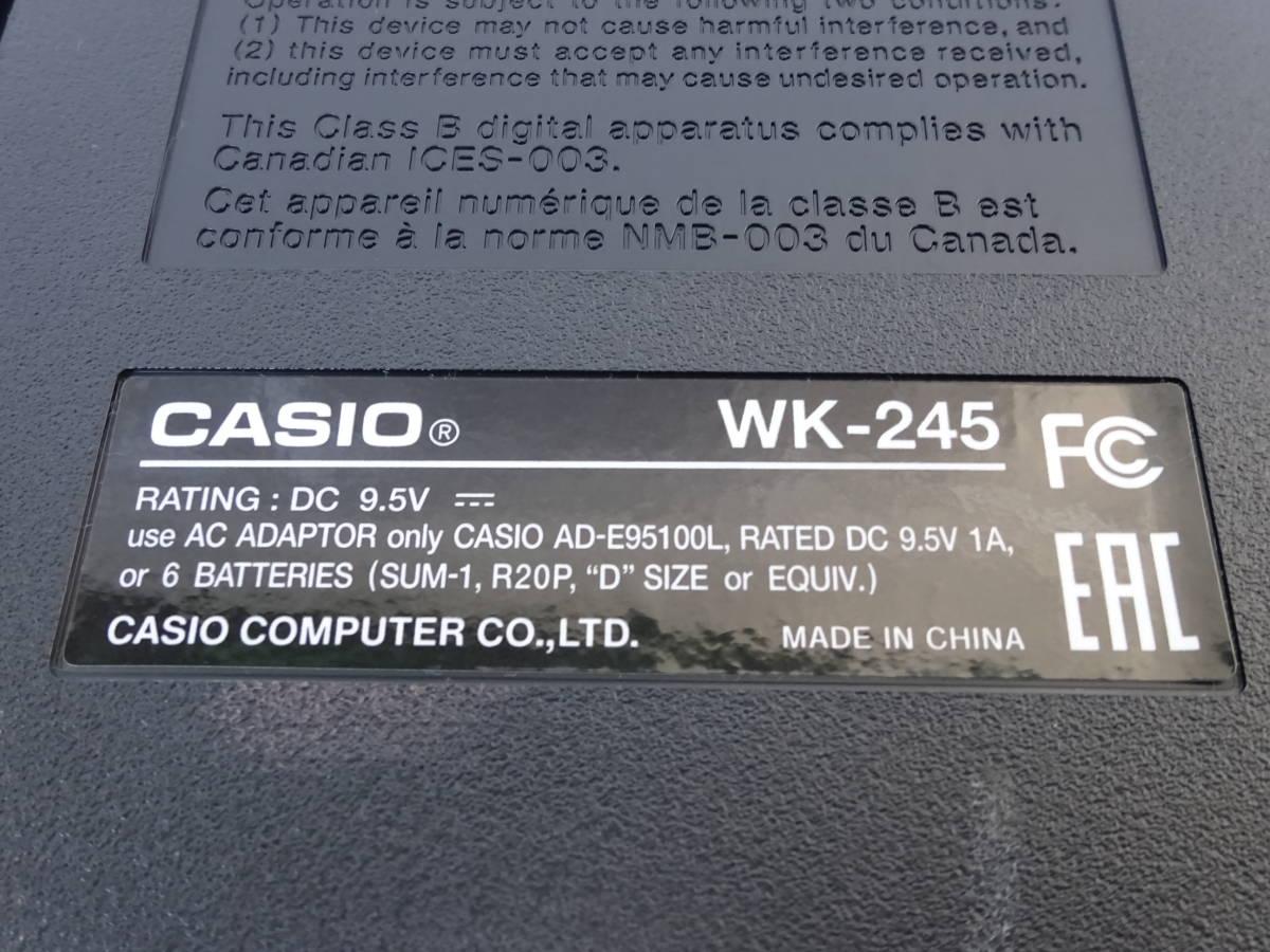 中古 CASIO デジタルキーボード WK-245 76鍵盤 2016年製 本体のみ 電子ピアノ カシオ_画像8